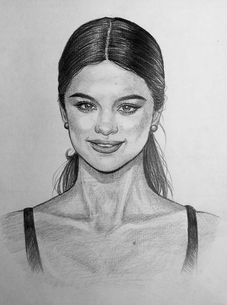 At this point your drawing should be complete hopefully you found this tutorial on how to draw selena gomez useful i trust that you will apply some of