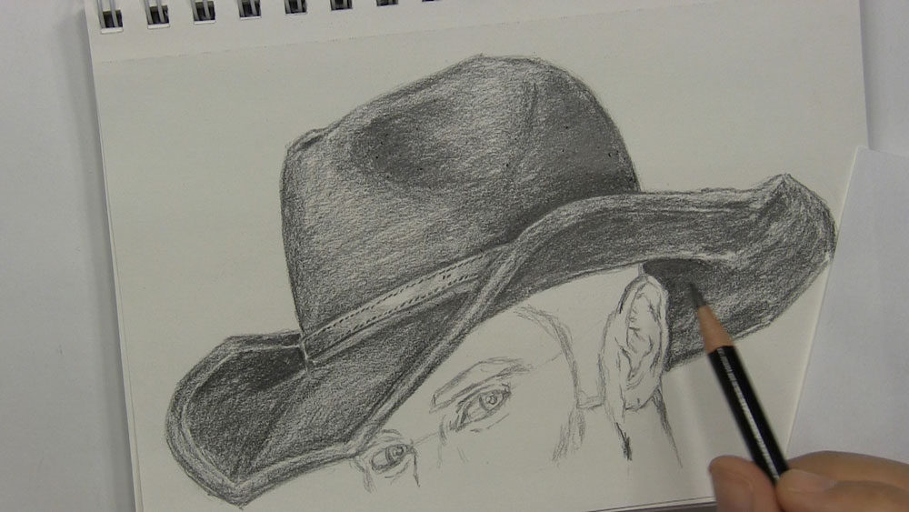 How To Draw A Cowboy Hat Let S Draw People