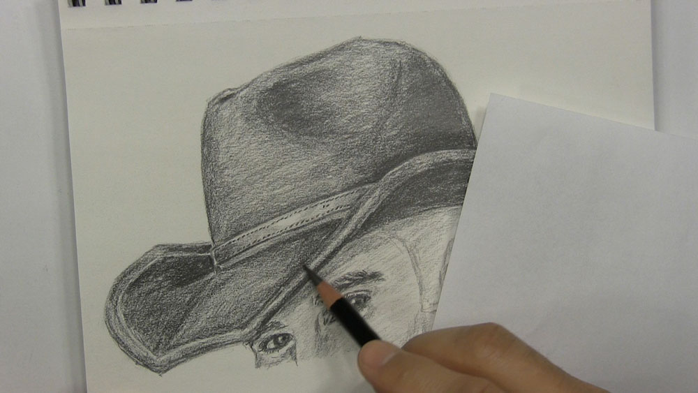 how to draw a coyboy hat