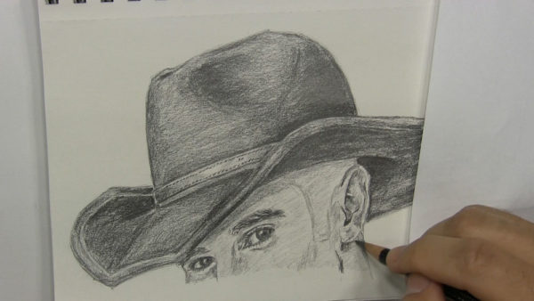 how to draw a cowboy hat step by step