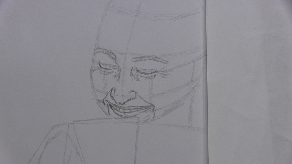 Line Drawing Of Child S Face : How to draw a lady drinking hot beverage let s people