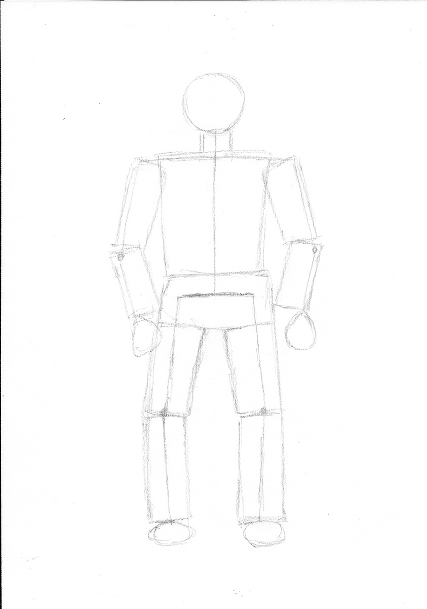 how to draw a stick person with clothes