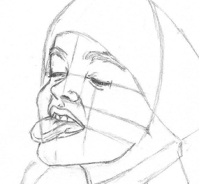 Line Drawing Of Child S Face : How to draw a child catching snowflakes with her tongue